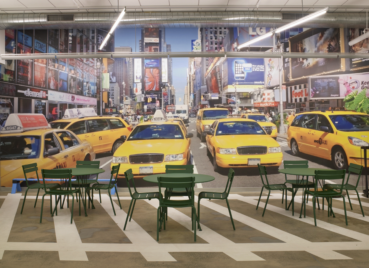 google office in new york city  Google´s New York City office Cafe TaxiMural2
