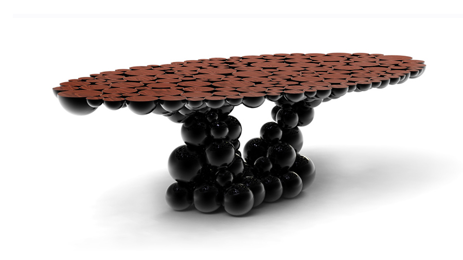 Ultimate Design News for New York City newton black gold dining table large size table limited edition boca do lobo 13