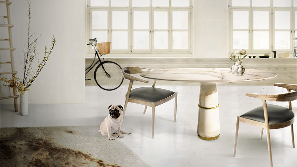 Marble Furniture | Agra by Brabbu BRABBU Dining table AGRA