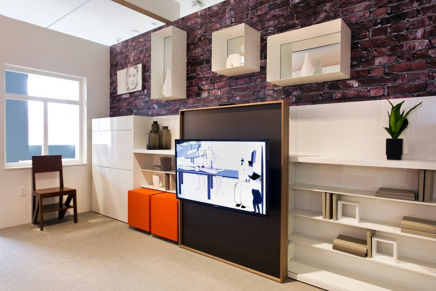 Decorate-a-small-house-a-closer-look-at-the-shelves-and-tv-the-white-storage