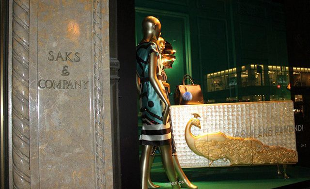 KOKET furniture at Saks Fifth Avenue  KOKET furniture at Saks Fifth Avenue Saks Fifth Avenue window displays Koket collections 640x390