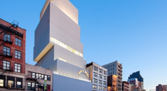 """""""The New Museum is a combination of elegant and urban. Designed by Kazuyo Sejima and Ryue Nishizawa/SANAA, is intended as a home for contemporary art and an incubator for new ideas."""""""