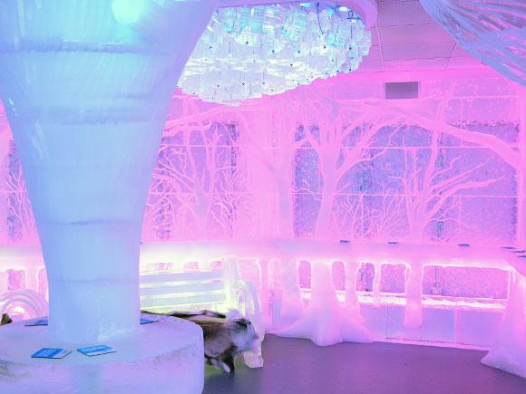 Minus5-Ice-Bar-NY-Central-Park-Pink  A Bar Made of Ice in NYC: Minus 5 Bar Minus5 Ice Bar NY Central Park Pink Tint1