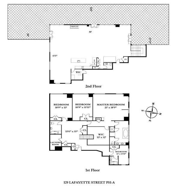 floor plan nyc new york penthouse  Rihanna's $14 Million Dollar NYC Penthouse floor plan nyc new york penthouse