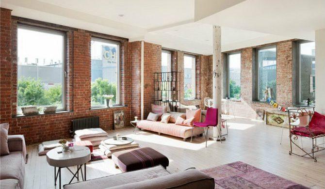 An apartment built brick by brick