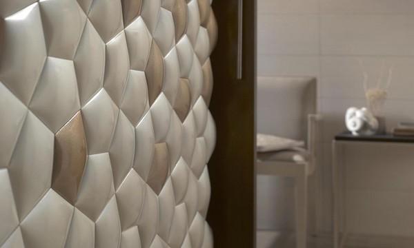 Ceramic walls inspired by mathematics