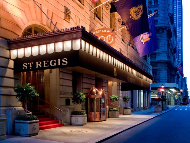The Best Christmas Hotels in NYC Best Christmas The Best Christmas Hotels in NYC st regis e1481105073647
