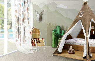 KIDS BEDROOM IDEAS – THE MAGICAL TEEPEE ROOM BY CIRCU