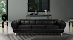 5 Amazing Black Leather Sofas For Your Luxury Living Room