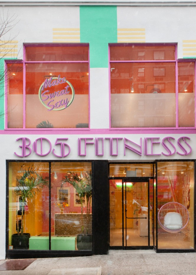 sasha bikoff Sasha Bikoff's Take At An 80s-Inspired Fitness Studio in NYC Sasha Bikoffs Take At An 80s Inspired Fitness Studio in NYC 10