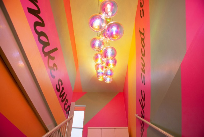 sasha bikoff Sasha Bikoff's Take At An 80s-Inspired Fitness Studio in NYC Sasha Bikoffs Take At An 80s Inspired Fitness Studio in NYC 4